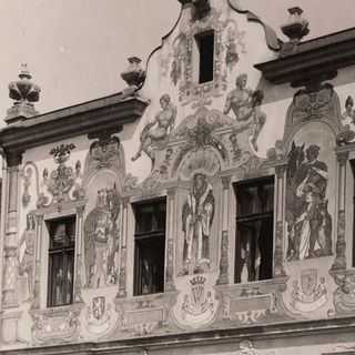 Painted facade of the house No.603, around 1920