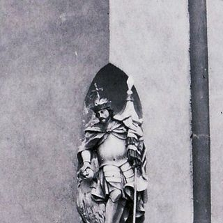 St. Wenceslas statue on the facade of the house No.540, around 1930